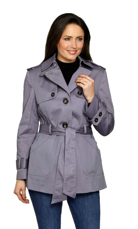 Womens ❤️Plus❤️ Tie Belt Cotton Trench Jacket db292